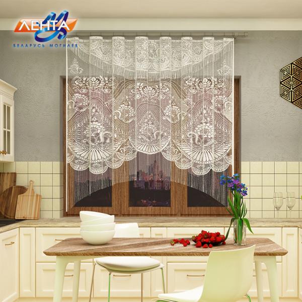 Занавеска на кухню / тюль с ламбрекеном 8с1012