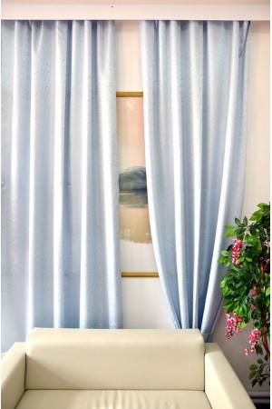 Комплект боковых штор (тюль) 2701, голубой