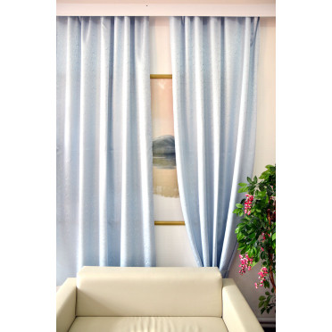 Комплект боковых штор (2шт.) 2701, голубой