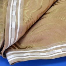 Комплект боковых штор (тюль) 2701, коричневый