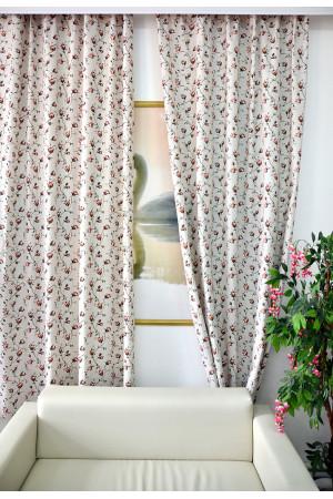 Комплект боковых штор (2шт.) 2701, розы
