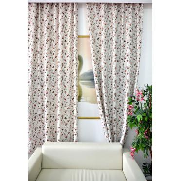 Комплект боковых штор (тюль) 2701, розы