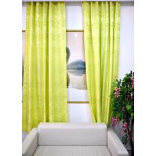 Комплект боковых штор (тюль) 2701, салатовый