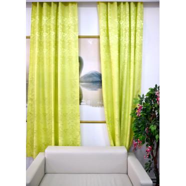 Комплект боковых штор (2шт.) 2701, салатовый