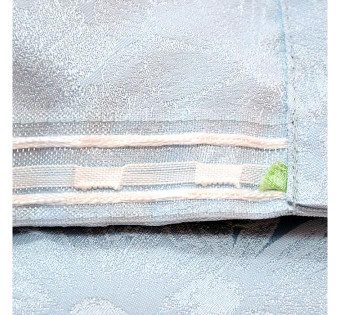 Комплект боковых штор (2шт.) 2701, серо-голубой