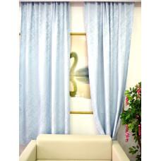 Комплект боковых штор (тюль) 2701, серо-голубой