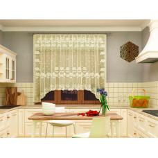 Занавеска для кухни 06С6067, светлое золото