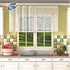 Занавеска на кухню / тюль 13С6543, белая
