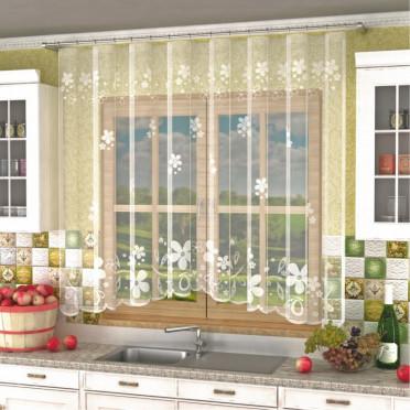Занавеска на кухню / тюль Р.Е631