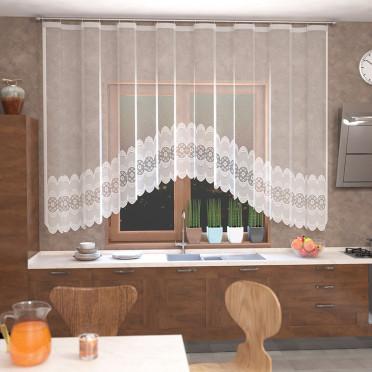 Занавеска на кухню / тюль  Т523