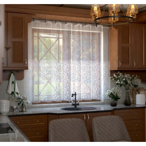 Занавеска на кухню / тюль Т833 Вента белый  270х165
