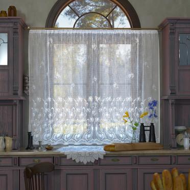 Занавеска на кухню / тюль, 11с6448