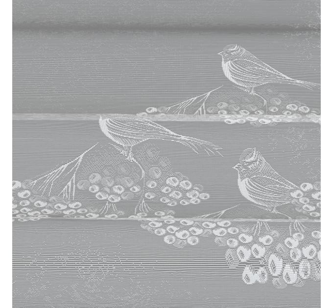 Занавеска для кухни / тюль Р.К28Н, снегири