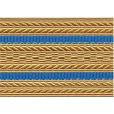 Лента для погон 3441 - крем с 2 голубыми просветами