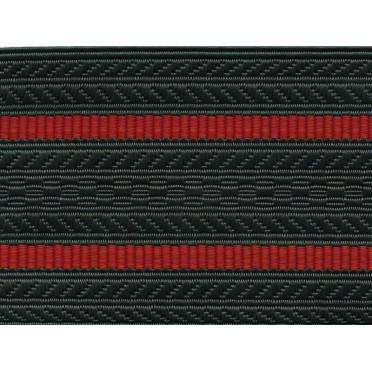 Лента для погон 04с3224 - олива с 2 краповыми просветами
