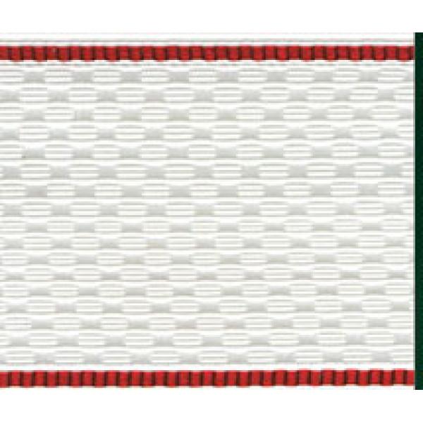 Лента для погон 3393 белый с краповым кантом