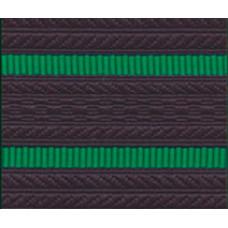 Лента для погон 07с3418 - темно-синий с 2 зелеными просветами