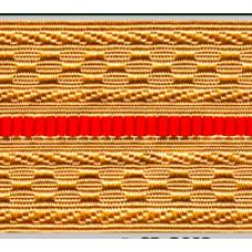 Лента для погон 07с3440 - крем с 1 красным просветом
