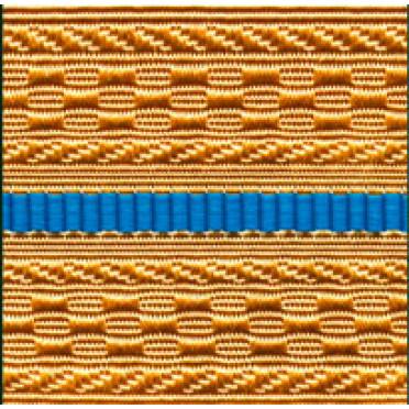 Лента для погон 07с3440 - крем с 1 голубым просветом