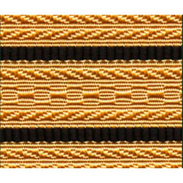 Лента для погон 3441 - крем с 2 черными просветами
