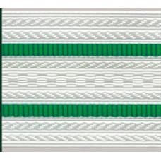 Лента для погон 3471 - белый с 2 зелеными просветами