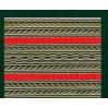 Лента для погон 3533 серо-оливковая с 2 красными  просветами