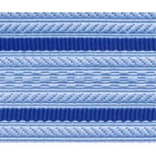 Лента для погон 3533 голубой с 2 ярко-синими просветами
