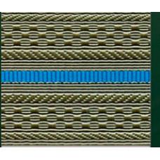 Лента для погон 3534 - серо-оливковая с 1 голубым просветом