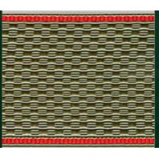 Лента для погон 3535 cеро-оливковая с  красным кантом