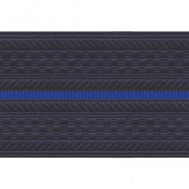 Лента для погон 3663 - темно-синий с 1 синим просветом