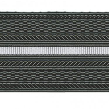 Лента для погон 4125 - черный с 1 белым просветом