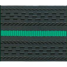 Лента для погон 4125 - черный с 1 зеленым просветом