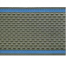 Лента для погон 9166 - серо-оливковая с голубым кантом