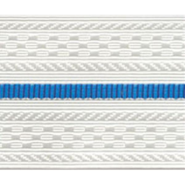 Лента для погон 9517 - белый с 1 голубым просветом