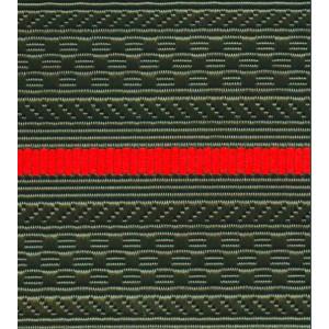 Лента для погон 04с3226 - оливковый  с 1 красным просветом