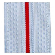 Лента для погон 3663 - серо-голубой с 1 красным просветом