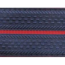 Лента для погон 3663 - темно-синий с 1 красным просветом