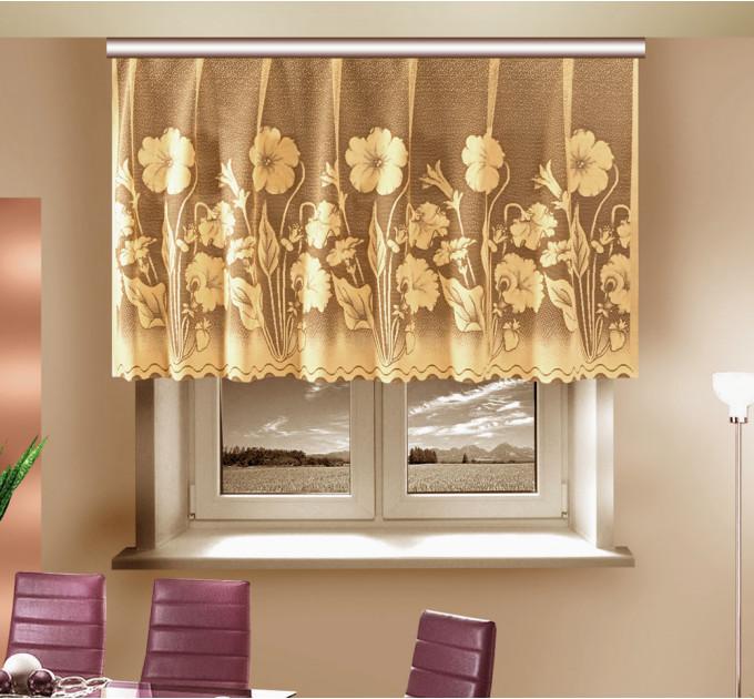 Занавеска для кухни, 13c6555, светло-золотой