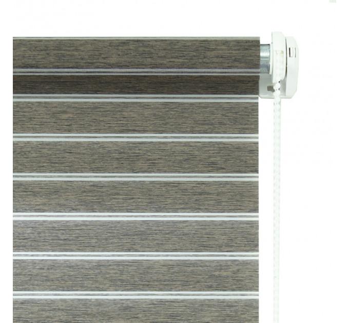 Рулонная штора Оливия, коричневая