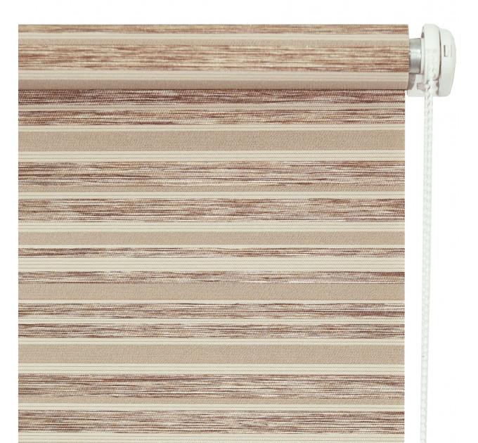 Рулонная штора Мишель, светло-коричневая