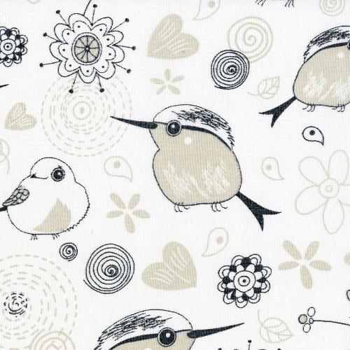 Птички 0225 белый