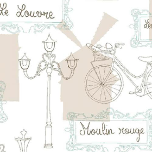 Рулонная штора Париж 2261 светло-бежевый