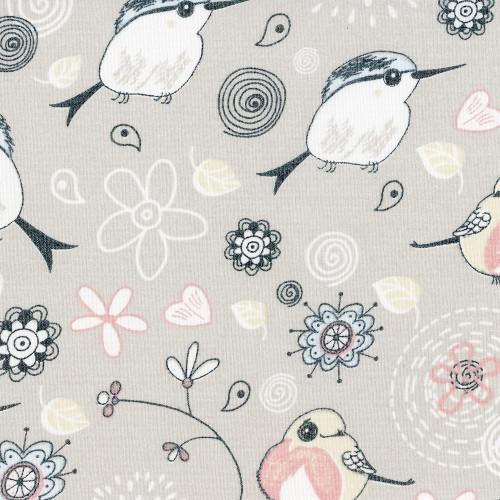 Птички 6 бежевый