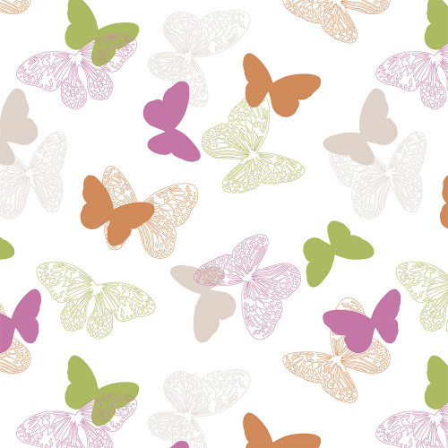 Рулонная штора Бабочки 4082 розовый